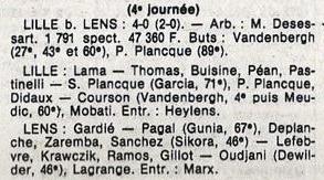 lille-lens coupe de la ligue 1986