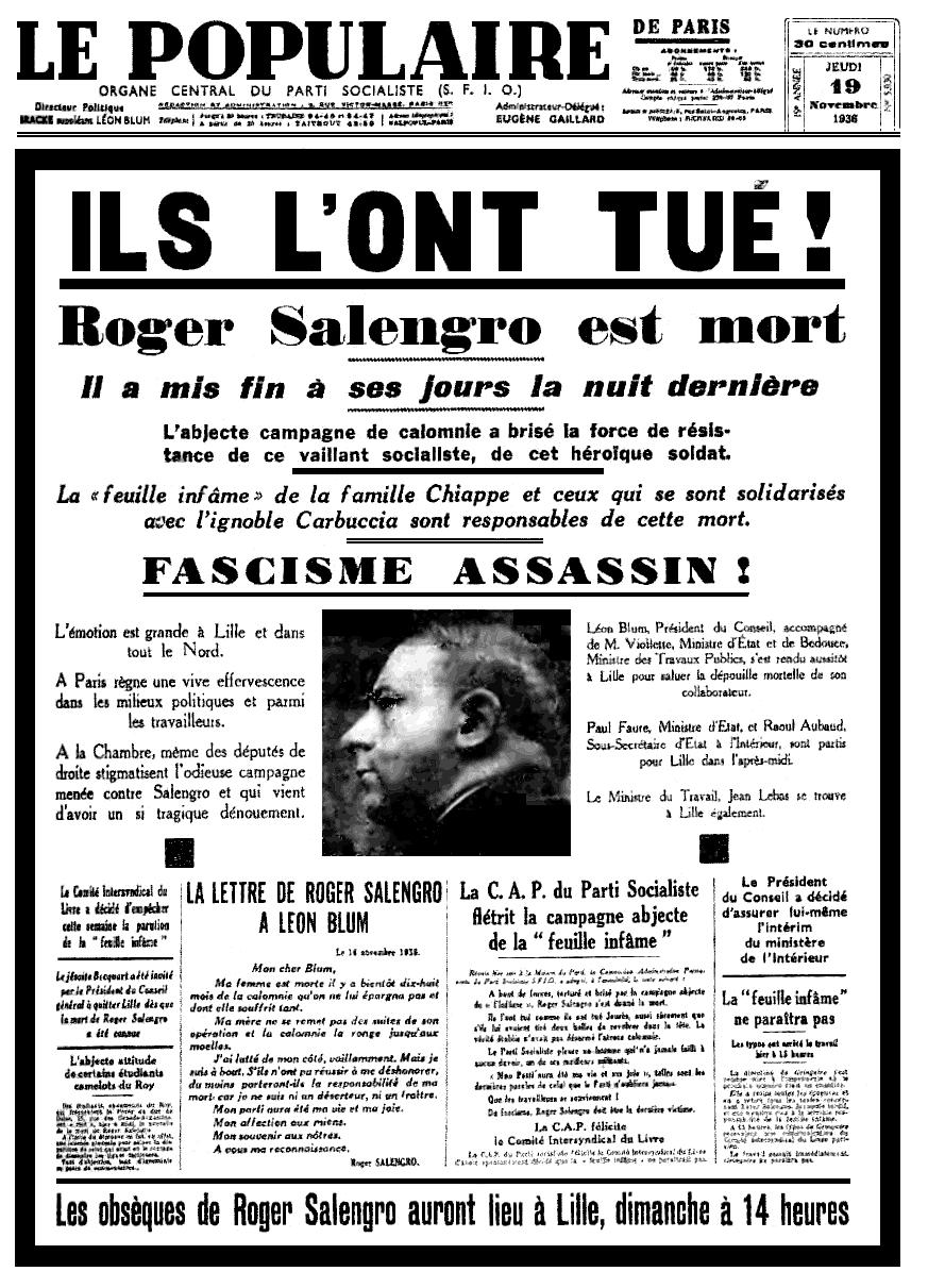 SalengroEstMort_LePopulaire19nov1936