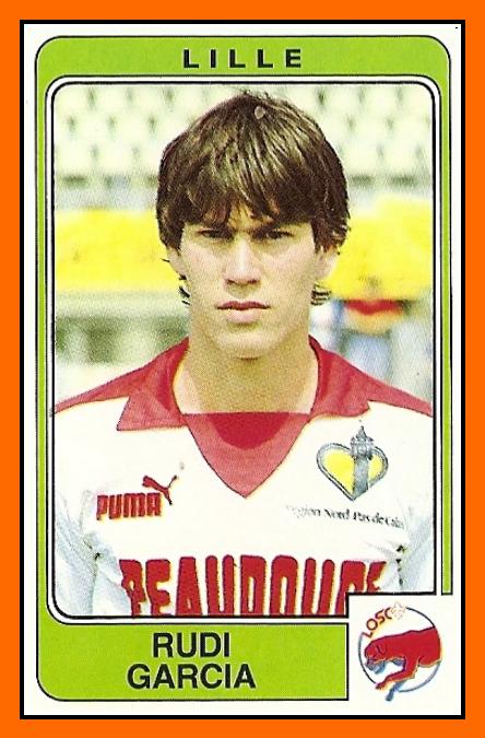 Rudi GARCIA Panini Lille 1986