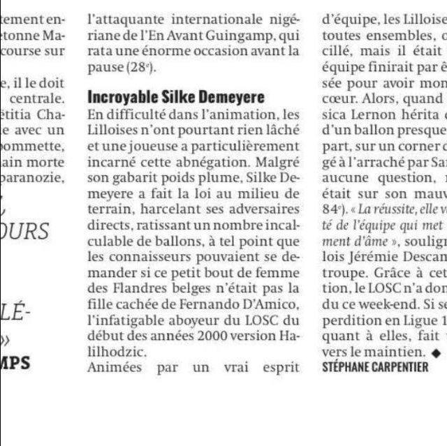 f923141c5e6 Apparemment Silke a fait forte impression à Stéphane Carpentier après le  match contre Guingamp. Mais on est quand même à la limite du plagiat là.