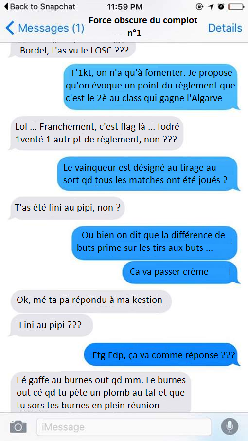 sms complot