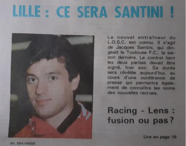 Santini arrivée